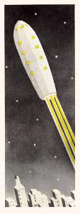 Rocket ship illustration 1945